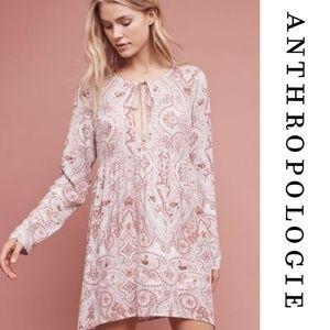Anthropologie Lilka Paisley Chemise Tunic Dress